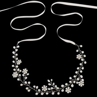 Floral Romance Hair Vine - HP135 Silver