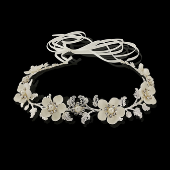 Opulence Floral Hair Vine - HP136 Silver