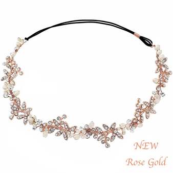 Luxe Embellished Hair Vine - Rose Gold