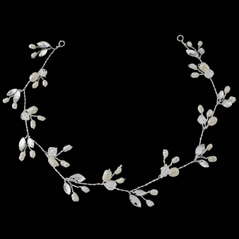 Chic Freshwater Pearl Hair Vine - Ivory