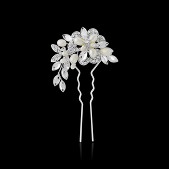 Marcia Luxe Hair Pin - HP6 Silver
