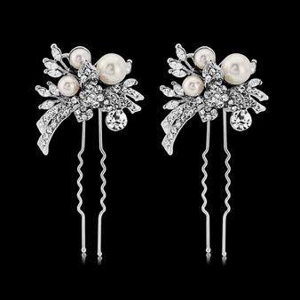 Elite Extravagance Hair Pins - Pearl