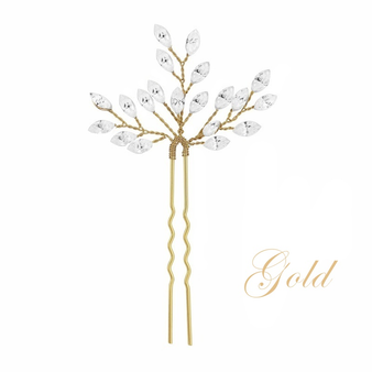 Crystal Chic Hair Pin - Gold