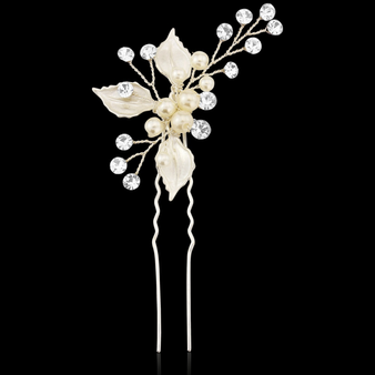 Bejewelled Romance Hair Pin - Silver