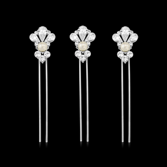Exquisite Starlet Pearl Hair Pin Set