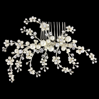 Betsy Luxe Hair Comb - Ivory