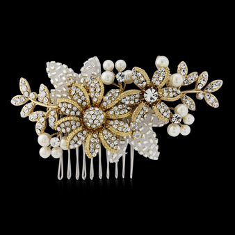 Esme 14K Gold Luxe Hair Comb