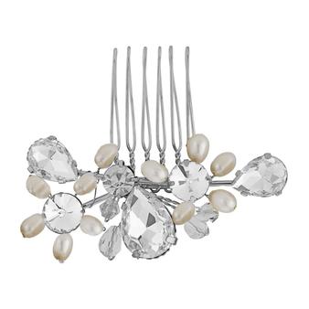 Crystal Bridal Hair Comb - Silver