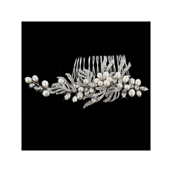 Luxurious Crystal & Pearls Bridal Comb
