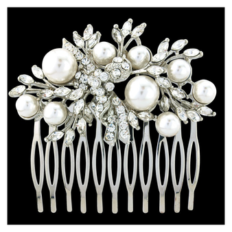 Elite Collection - Pearl Extravagance Hair Comb
