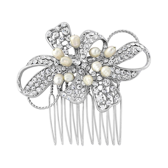 Luxe Pearl Bow Comb