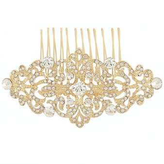 Vintage Luxe Comb - Gold