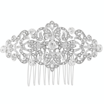 Vintage Luxe Comb - Silver