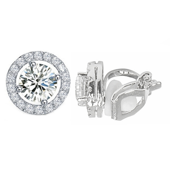 Cubic Zirconia Collection - CZ Crystal Clip-On Earrings