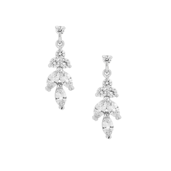Cubic Zirconia Collection - Dainty Sparkle Drop Earrings