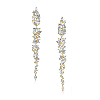 Cubic Zirconia Collection -Dainty Starlet Chandelier Earrings