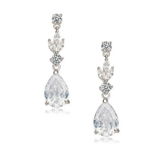 Cubic Zirconia Collection - Crystal Sparkle Earrings