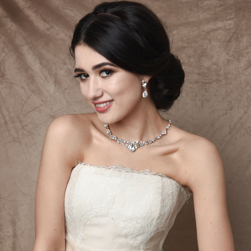 Crystal Enchantment Necklace Set - Silver