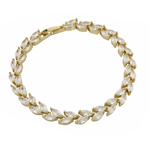 Chic Crystal Bracelet - Gold