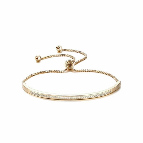 Cubic Zirconia Collection - Crystal Elegance Bracelet - Rose Gold