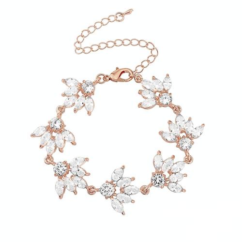 Gatsby Glitz Bracelet - Rose Gold