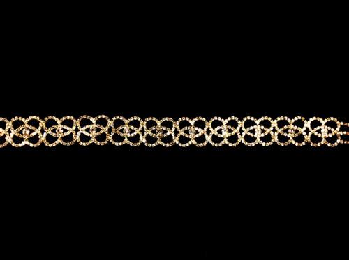 Embellished gold belt BT4608