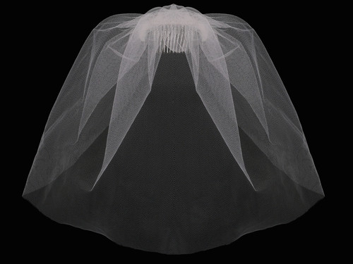 English tulle cage veil CV1790