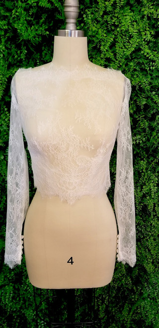 Chantilly Lace Jacket with Buttoned Back J001
