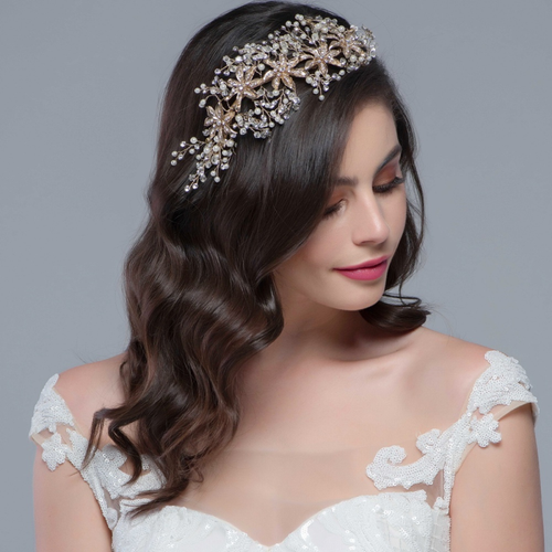 Enchanting Bejeweled Headpiece - Silver