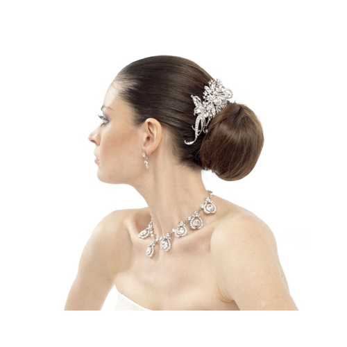 Elite Collection - Luxurious Crystal Hair Comb - Clear (HC260)