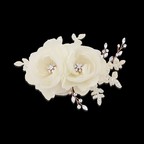 Blossom Headpiece - Luxe Crystal Hair Comb - Rose Gold