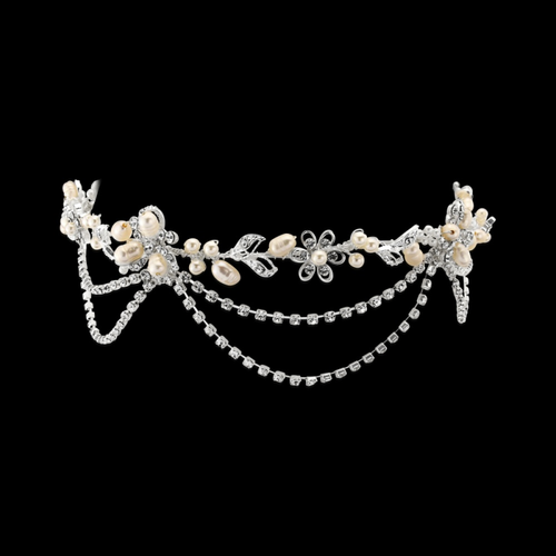 Gatsby Bejewelled Headpiece - Silver