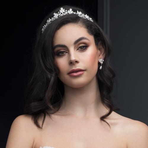 Arabella Couture Tiara - SIlver