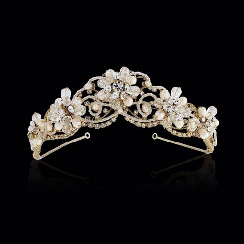 Adelina - Exquisite Treasure Tiara - 14K Gold