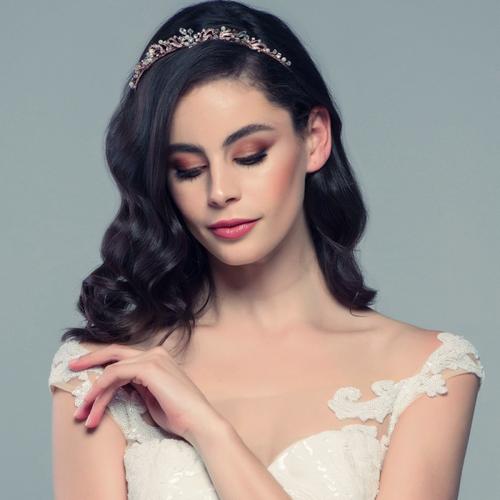 Clarabelle Tiara - Rose Gold