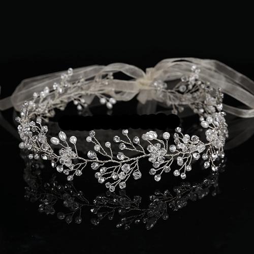 Crystal Shimmer Hair Vine - HP137 Silver