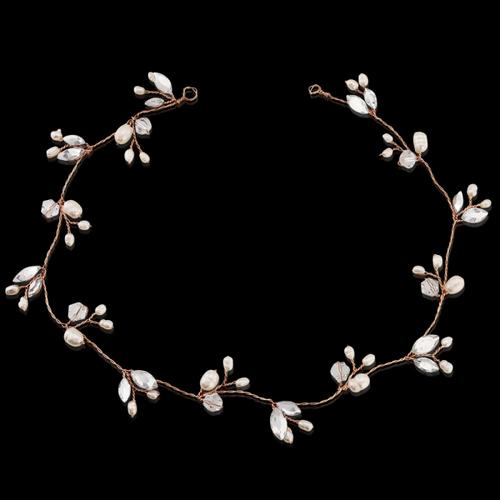 Chic Freshwater Pearl Hair Vine - Rose Gold