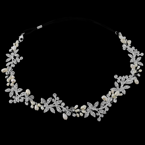 Luxe Embellished Hair Vine - Ivory