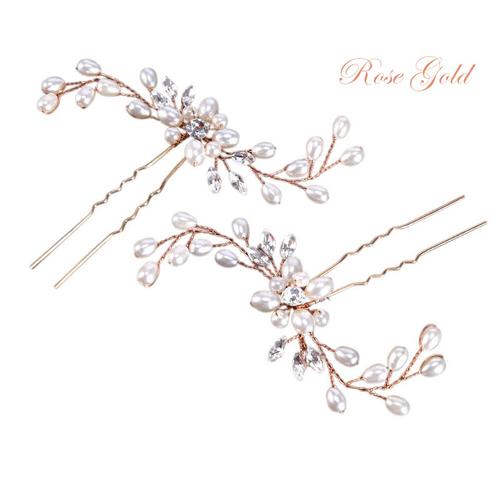 Classic Hair Pins (Pair) - Rose Gold