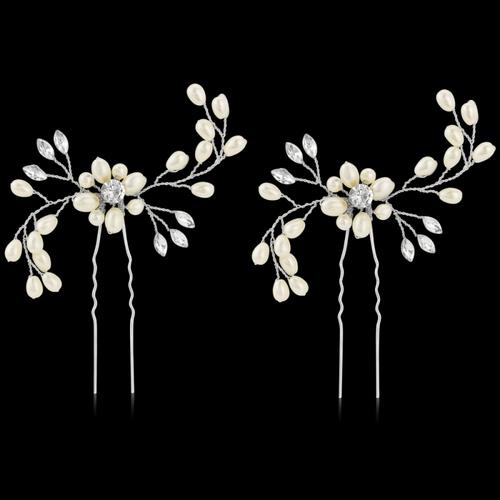 Classic Hair Pins (Pair) - Silver