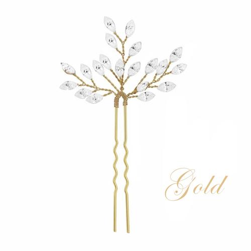 Crystal Chic Hair Pin - Gold
