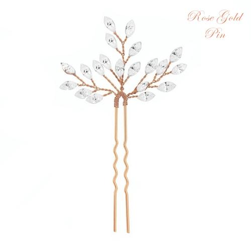 Crystal Chic Hair Pin - Rose Gold
