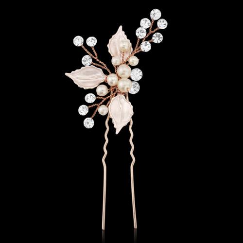 Bejewelled Romance Hair Pin - Blush Pink