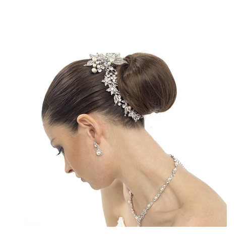 Luxurious Crystals & Pearl Hair Comb