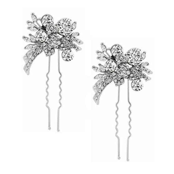 Elite Extravagance Hair Pins - Clear Crystal