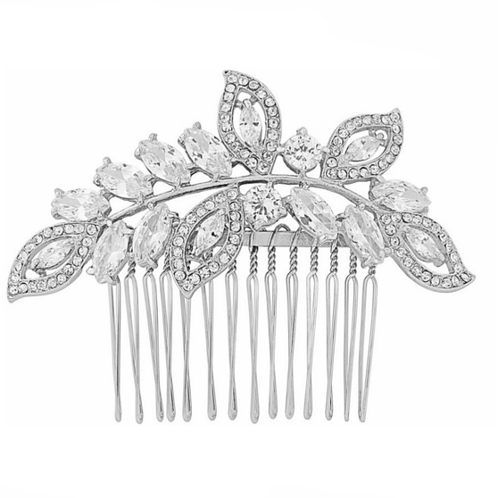 Silver Hair Comb