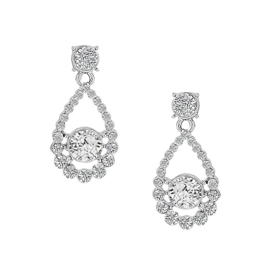 Cubic Zirconia Collection - Dainty Crystal Earrings