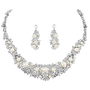 Exquisite Pearl Necklace Set - Silver