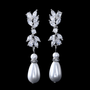 embellished with a sparkly mix of cz crystals and simulated ivory pearls on a silver finish.