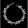 embellished with high quality sapphire blue and clear cubic zirconia crystals on a silver finish.